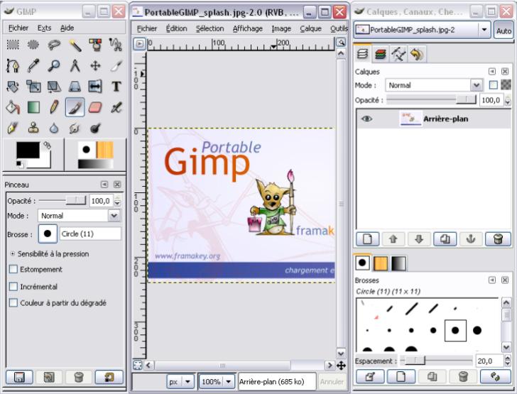 capture d'écran GIMP